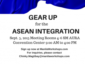 Gear Up for the ASEAN Integration on Sept 5
