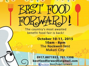 Best Food Forward: A Benefit Food Fair on Oct 10-11