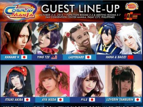 Cosplay Mania 15: Official Guest Line-Up