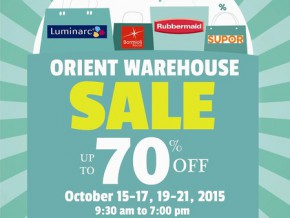 Up to 70% Price Slash at Orient Warehouse Sale
