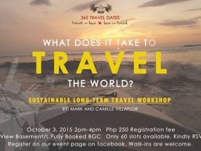 Sustainable Long-term Travel Workshop Slated on Oct 3