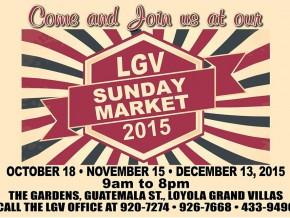 LGV Sunday Market 2015