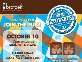Brotzeit Oktoberfest: Drink, Sing & Be Merry
