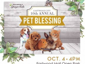 Eastwood City's Annual Pet Blessing Happening on October 4