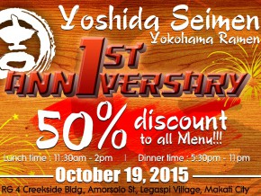 50% Off on Yoshida Seimen Menu