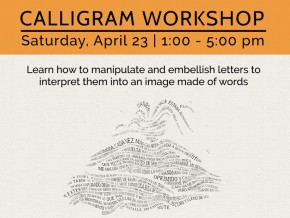 Last week to view Humo + Calligram Workshop at MET