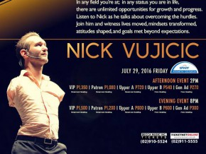 Nick Vujicic: Limitless Possiblities Live in Manila!