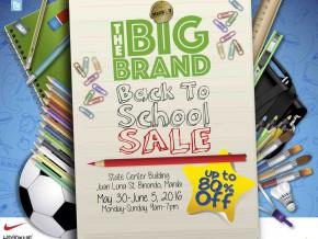 The Big Brand Back to School Sale