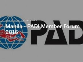 Manila – PADI Member Forum 2016