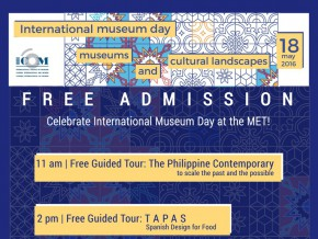 Free admission at the MET for International Museum Day