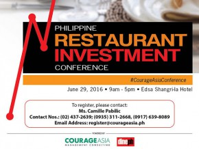 Philippine Restaurant Investment Conference 2016