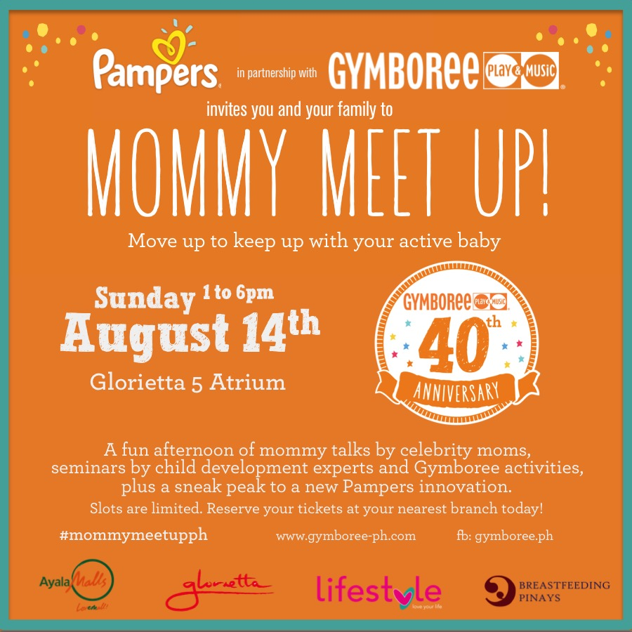 Mommy Meet Up Invite Pampers & Gymboree