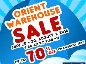 Orient Warehouse Sale