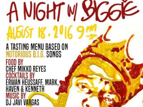 It's a Night with Biggie on the 18th
