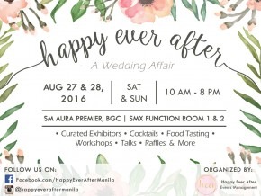 Have a Happy Ever After at the Bridal Fair this 2016!