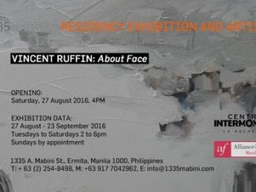 PARP 2016: 'About Face,' a solo exhibition by French resident artist Vincent Ruffin