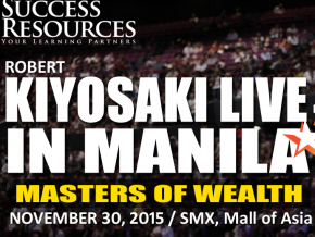 Robert Kiyosaki Live in Manila on November 20