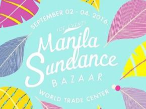 Manila Sundance Bazaar is happening again on Sept. 2 to 4 at WTC