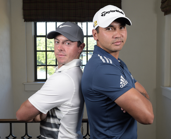 ATLANTA, GA - SEPTEMBER 21: (L-R) Rory McIlroy of Northern Ireland and Jason Day of Australia pose for a photo during the TOUR Championship, the final event of the FedExCup Playoffs, at East Lake Golf Club on September 21, 2016 in Atlanta, Georgia. (Photo by Stan Badz/PGA TOUR)