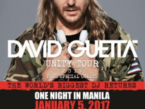 DAVID GUETTA COMING TO MANILA FOR UNITY TOUR 2017