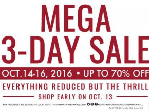 SM Megamall Mega 3-Day Sale