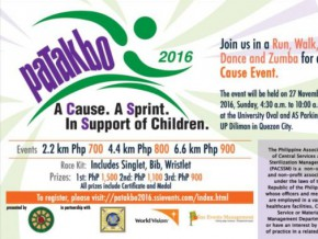 Patakbo 2016: A Cause. A Sprint. In Support of Children