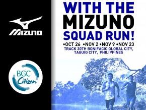 Mizuno Squad Run!
