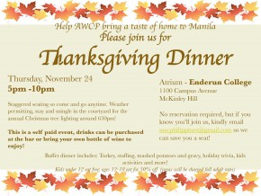AWCP Thanksgiving Dinner