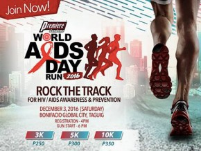 World Aids Day Run 2016 in Bonifacio Global City