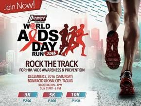 World Aids Day Run 2016 in Bonifacio Global City