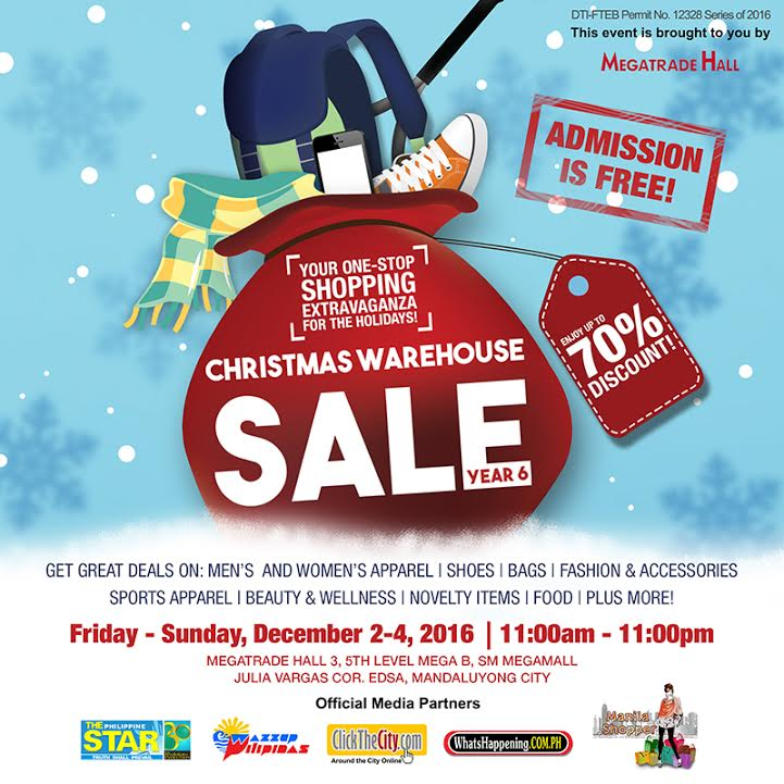8973ecdf525 The 6th Christmas Warehouse Sale