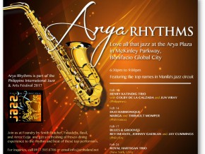 Arya Rhythms – a part of the Philippine International Jazz and Arts Festival 2017