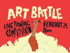 The battle is on at the country's first-ever Art Battle!