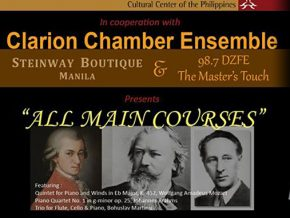 """All Main Courses"" in Clarion Chamber Ensemble Concert at CCP"