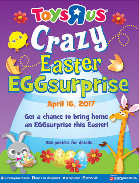 5 easter egg hunt activities for kids at malls in manila crack a crazy easter eggsurprise as toys r us celebrates easter nationwide to join simply make a minimun single receipt purchase of p300 at any of toys negle Choice Image