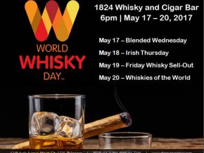 Fine whisky at 1824 Whisky and Cigar Bar all week long