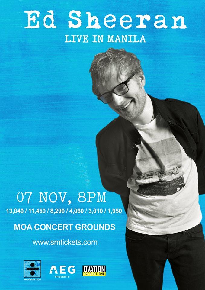 Ed Sheeran LIVE in Manila this November 2017 | Philippine Primer