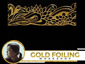 Gold Foiling Workshop with Amy Cabral at Ayala Museum