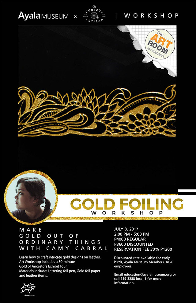 Gold Foiling Workshop with Amy Cabral at Ayala Museum | Philippine
