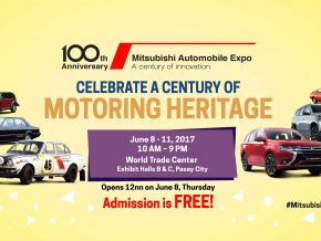 Mitsubishi 100 Years Anniversary Expo on June 8-11 at WTC, Pasay