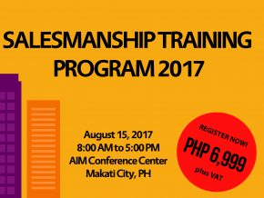 Salesmanship Training Program 2017 on August 15