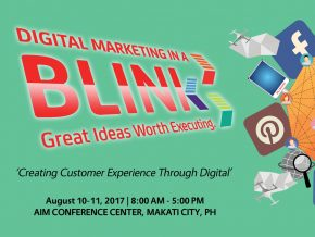 Digital Marketing in a BLINK 2017 on August 10-11