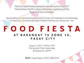 Marriott Asia-Pacific Culinary Workshop: Food Fiesta 2017