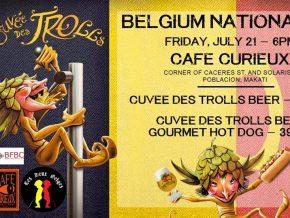 Belgian beer and a premium sausage at Belgium National Day