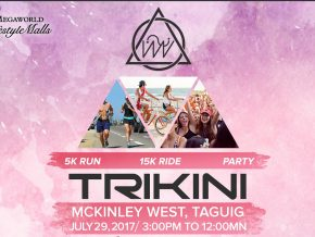 Enjoy the outdoors with Trinkini, an urban fitness party