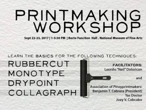 Handog sa Bayan Printmaking Workshop on Sept. 22-23