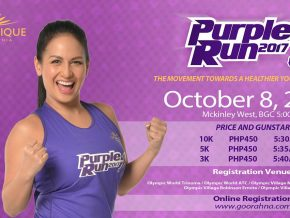The 1st Organique Purple Run 2017 at Mckinley West Park