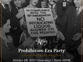 ABV's Prohibition Era Party on October 28