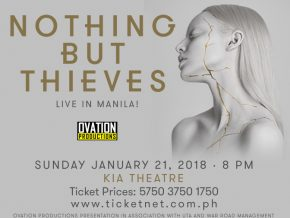 Nothing But Thieves live in Manila on January 21, 2018
