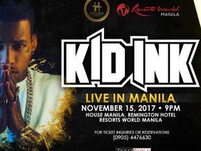 Kid Ink Live in Manila 2017